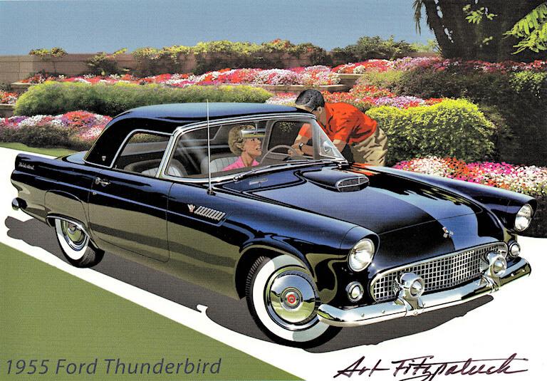 1955 FordThunderbird mainos CCBY20