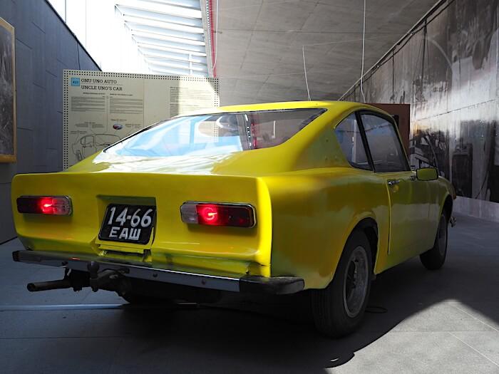 Kaksipaikkainen sportti coupee kori on kokonaan auton rakentaneen Unon omaa designia.