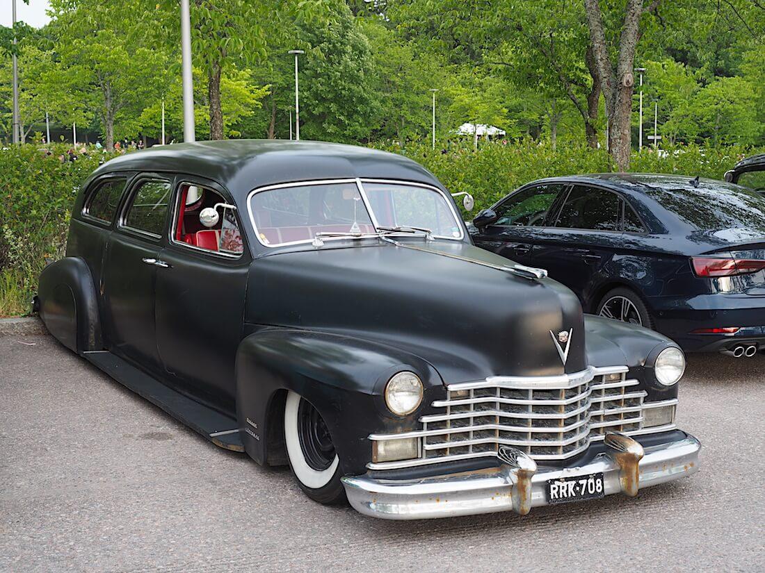 1946 Cadillac 75-series Miller Hearse. Tekijä: Kai Lappalainen, lisenssi: CC-BY-40.