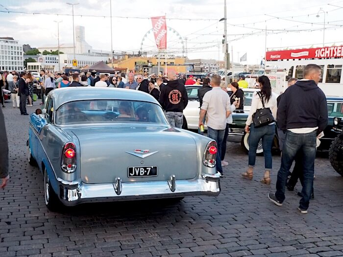 1956 Chevrolet Bel Air Sport coupe. Kuva: Kai Lappalainen, lisenssi: CC-BY-40.