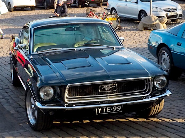 1968 Ford Mustang Fastback. Kuva: Kai Lappalainen, lisenssi: CC-BY-40.