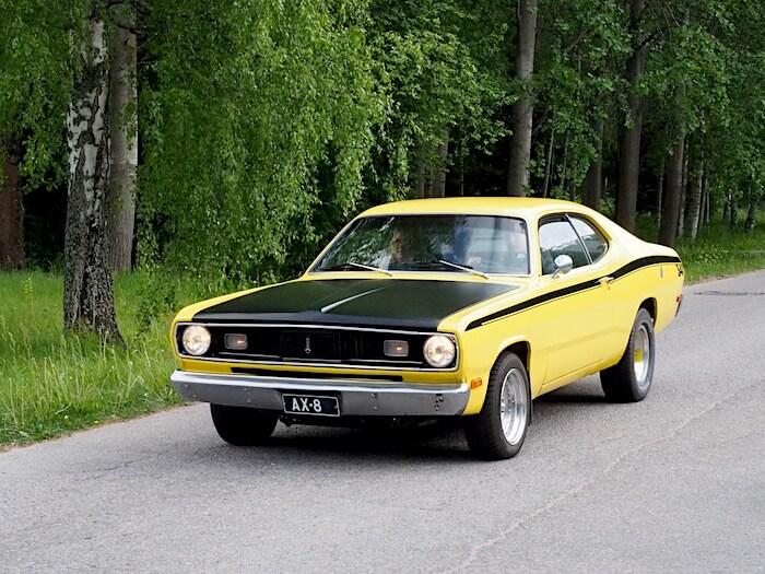 1971 Plymouth Duster. Kuva: Kai Lappalainen, lisenssi: CC-BY-40.