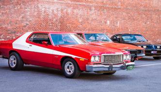 1975 Ford Gran Torino Starsky & Hutch -replica. Tekijä: Nicholas Erwin, lisenssi: CCBYNCND20.