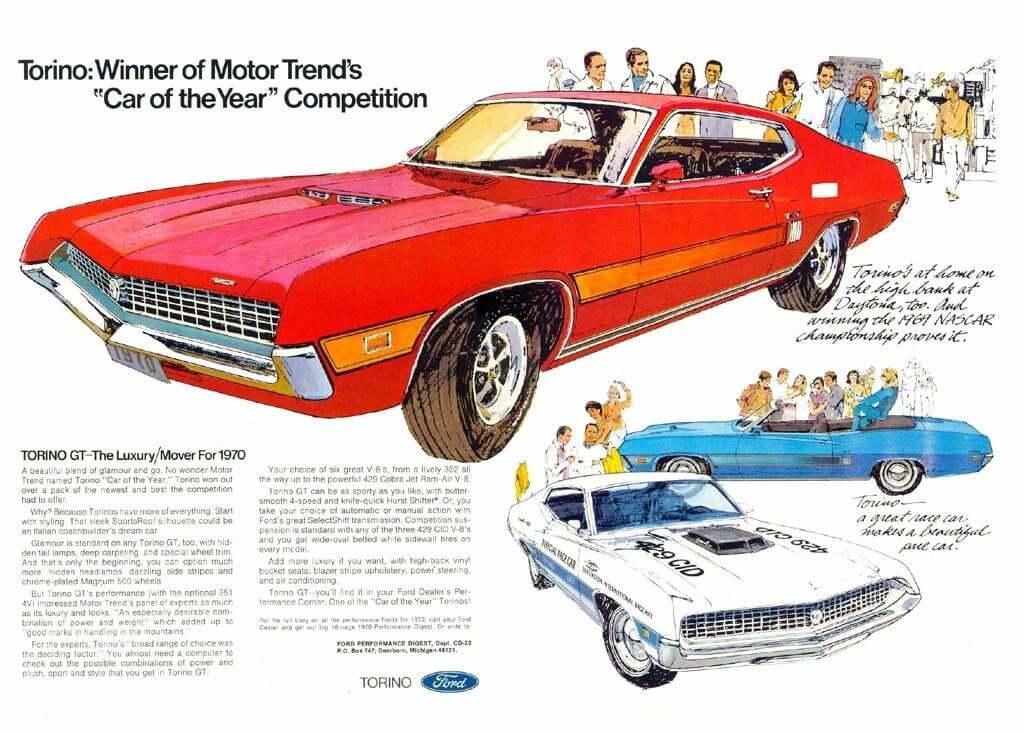 1970 Ford Torinon mainos. Tekijä: Ford.