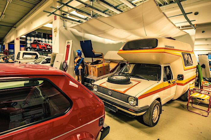 Golfstrudel kokoelman Caddy-matkailuauto. Tekijä ja copyright: Volkswagen AG.