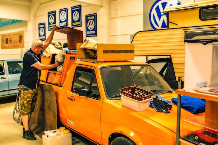 Golfstrudel Caddy roskienkuljetusauto. Tekijä ja copyright: Volkswagen AG.