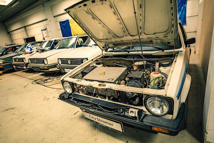 Golfstrudel kokoelman ekonurkkauksen Golfeja. Tekijä ja copyright: Volkswagen AG.