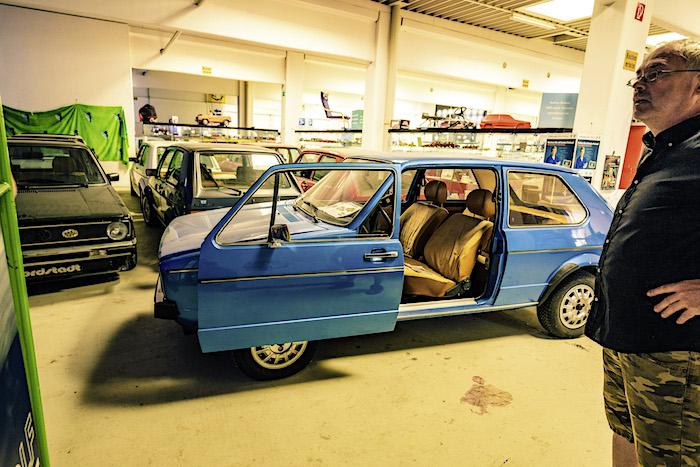 Golfstrudel prototyyppi Golf liukuovella 1974. Tekijä ja copyright: Volkswagen AG.