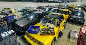 Golfstrudel kokoelman Golf II autoja. Tekijä ja copyright: Volkswagen AG.