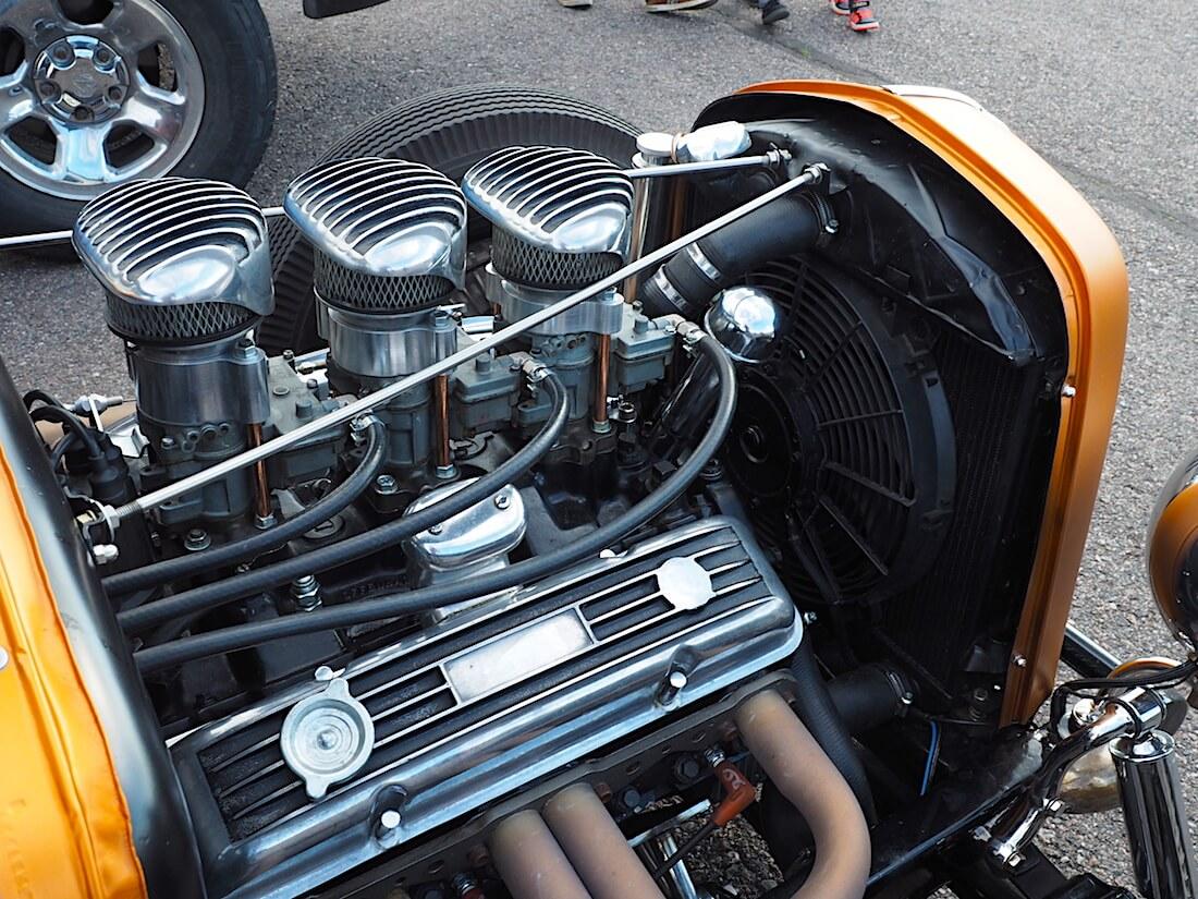 1931 Ford A 5-window rodin moottori. Tekijä: Kai Lappalainen, lisenssi: CC-BY-40.