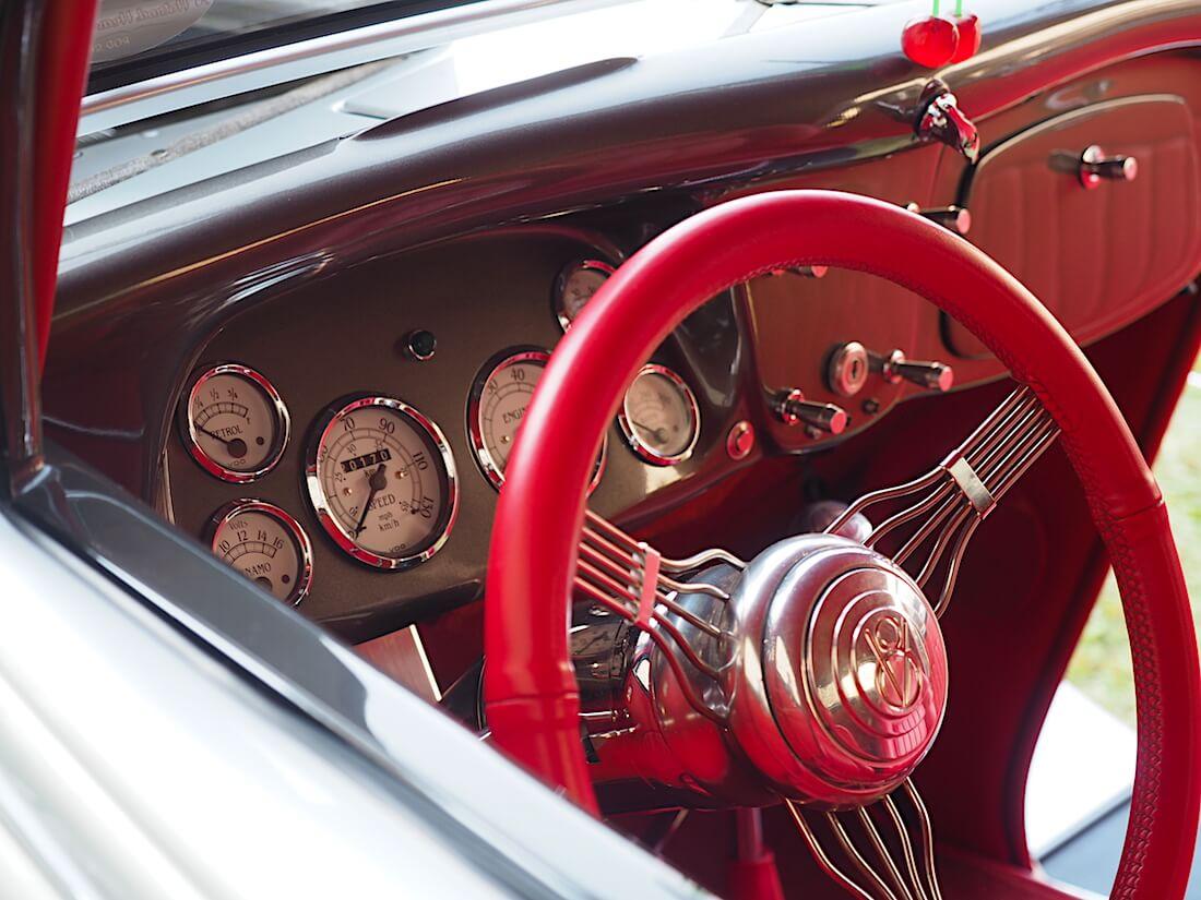 1934 Ford Rodin sisusta. Tekijä: Kai Lappalainen, lisenssi: CC-BY-40.