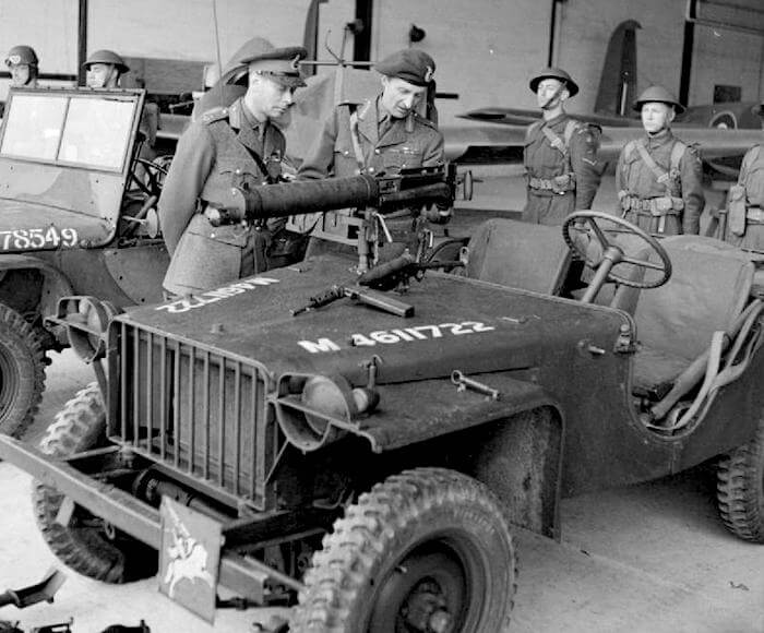 1941 Bantam BRC40 Britannian armeijalla. Tekijä: Imperial War Museum, lisenssi: Public Domain.
