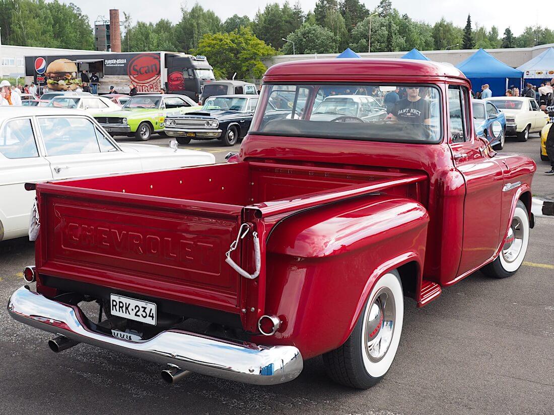 1955 Chevolet 3100 pickup. Tekijä: Kai Lappalainen, lisenssi: CC-BY-40.