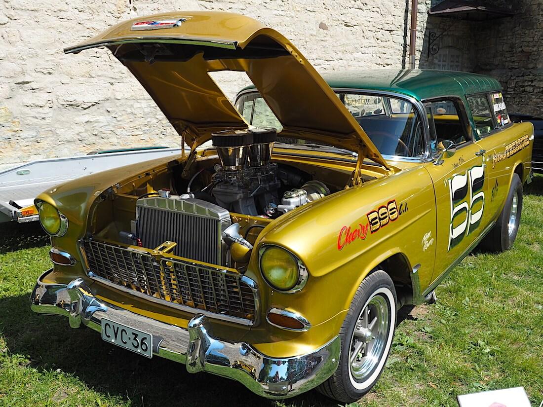 1955 Chevrolet Nomad Station Wagon 375hv 396cid V8.Tekijä: Kai Lappalainen, lisenssi: CC-BY-40.
