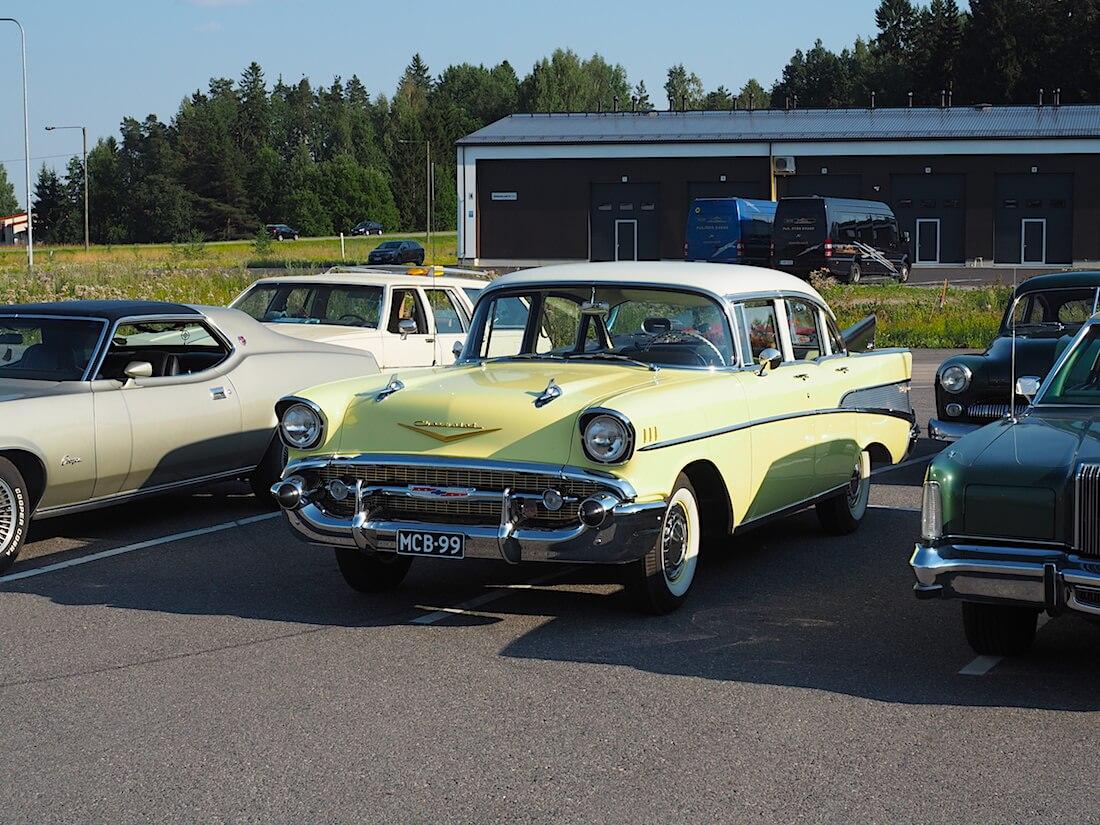 1957 Chevrolet Bel Air 4d 283cid. Tekijä: Kai Lappalainen. Lisenssi: CC-BY-40.
