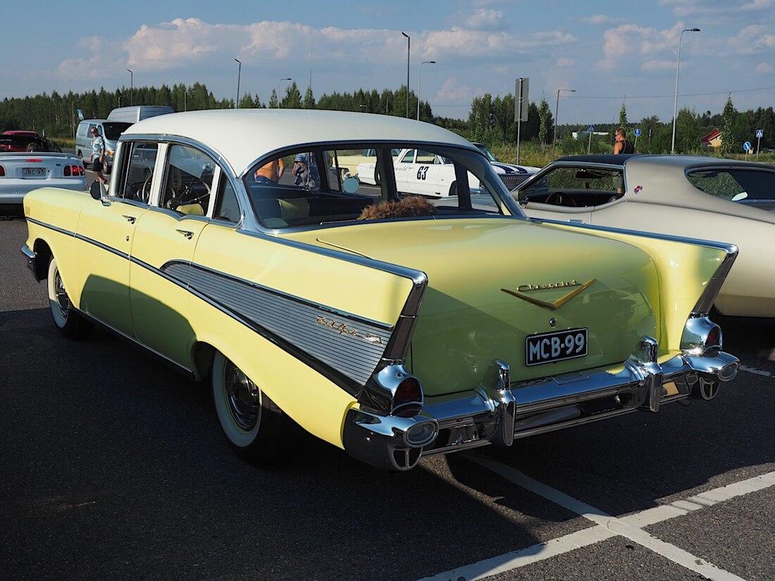 1957 Chevrolet Bel Air siipijenkki. Tekijä: Kai Lappalainen. Lisenssi: CC-BY-40.