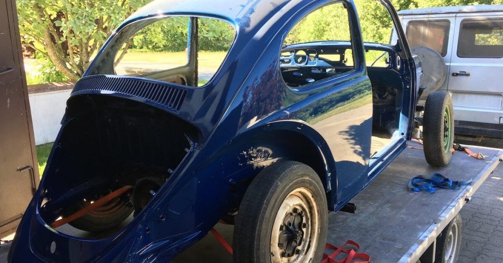 1967 VW Kuplan kori maalattuna trailerilla. Tekijä: Kai Lappalainen, lisenssi: CC-BY-40.