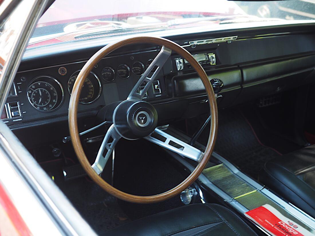 1968 Dodge Charger R/T:n sisusta. Tekijä: Kai Lappalainen, lisenssi: CC-BY-40.