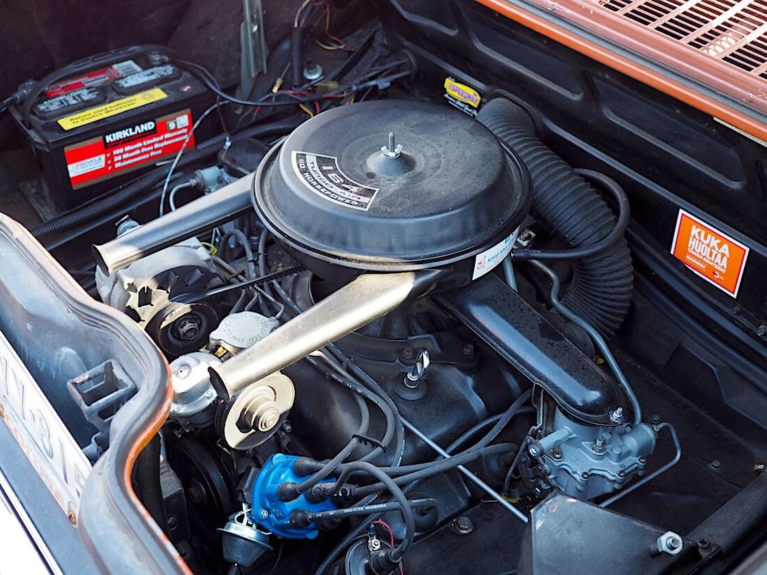 1969 Chevrolet Corvair 164cid ilmajäähdytteinen moottori. Tekijä: Kai Lappalainen, lisenssi: CC-BY-40.
