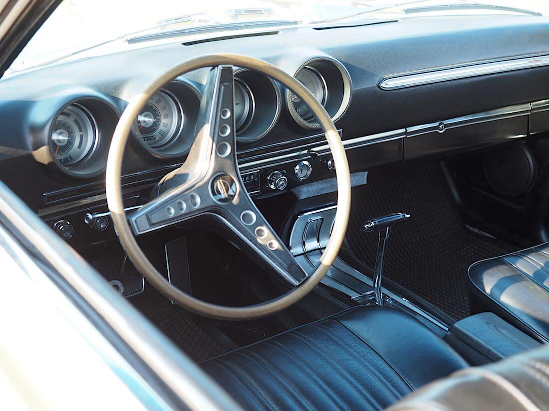 1969 Ford Torino Gt Sportsroof interior. Tekijä: Kai Lappalainen. Lisenssi: CC-BY-40.