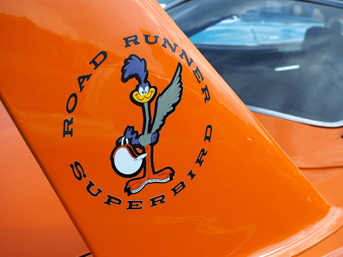 1970 Plymouth Road Runner Superbird logo. Tekijä: Kai Lappalainen, lisenssi: CC-BY-40.