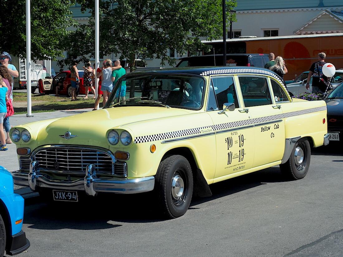 1971 Checker Marathon cab American Beauty 2018. Tekijä: Kai Lappalainen, lisenssi: CC-BY-40.