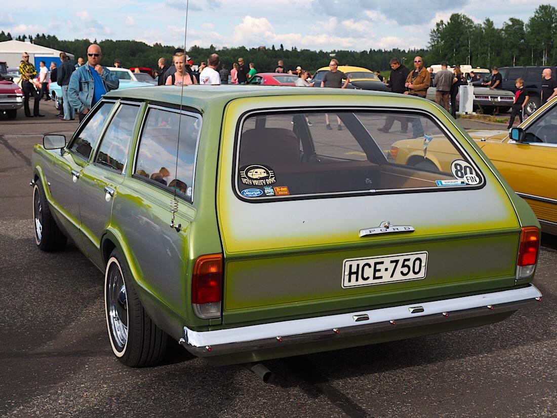 1974 Ford Taunus L STW 1600 custom 80-lätkällä. Tekijä: Kai Lappalainen, lisenssi: CC-BY-40.