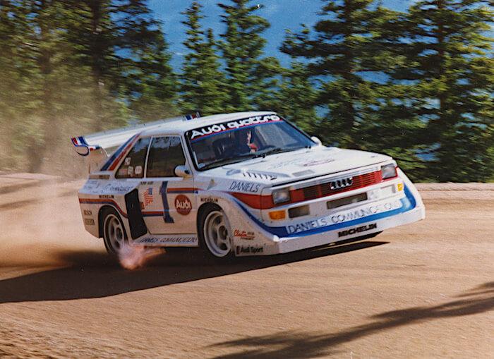 Pikes Peak 1986, Audi Quattro, Bobby Unser. Kuva ja copyright: Volkswagen AG.