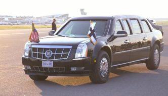 Cadillac One Helsingissä 2018. Kuva: The White House, lisenssi: Public Domain.