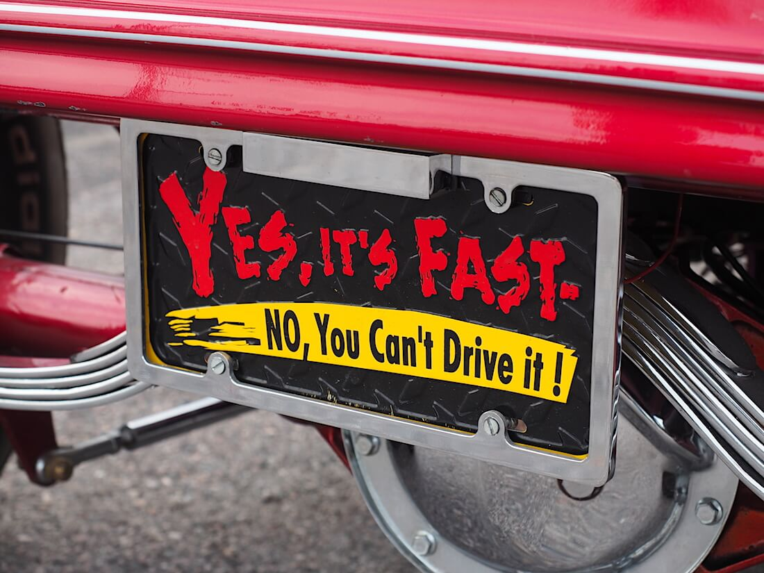 Yes It's Fast - No, You Can't Drive it! Tekijä: Kai Lappalainen. Lisenssi: CC-BY-40.