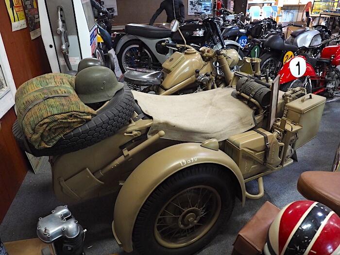 Saksalainen armeijan moottoripyörä 1941 Zundapp KS 750. Tekijä: Kai Lappalainen. Lisenssi: CC-BY-40.