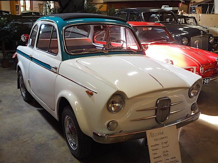 1963 Neckar Weinsberg 500cm3 Vehoniemen automuseossa. Tekijä: Kai Lappalainen. Lisenssi: CC-BY-40.