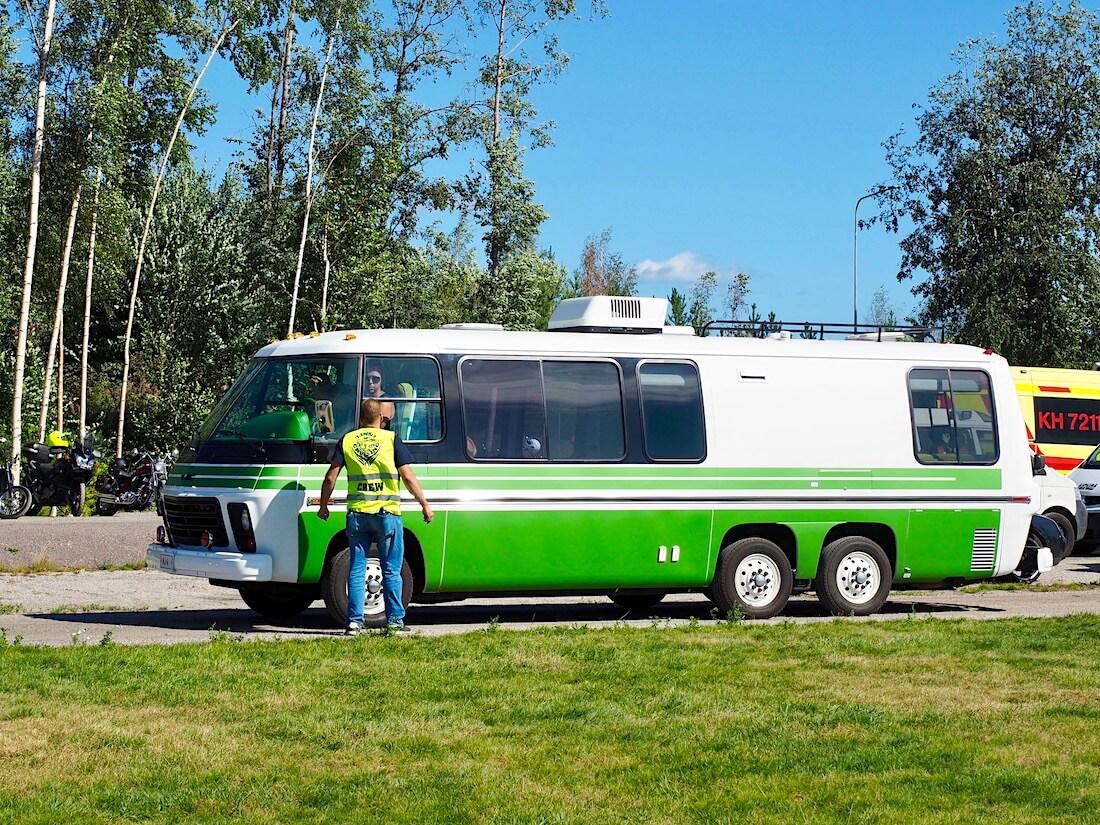1975 GMC Model 260 Motorhome 455cid bensa-V8:lla. Kuvan tekijä: Kai Lappalainen. Lisenssi: CC-BY-40.