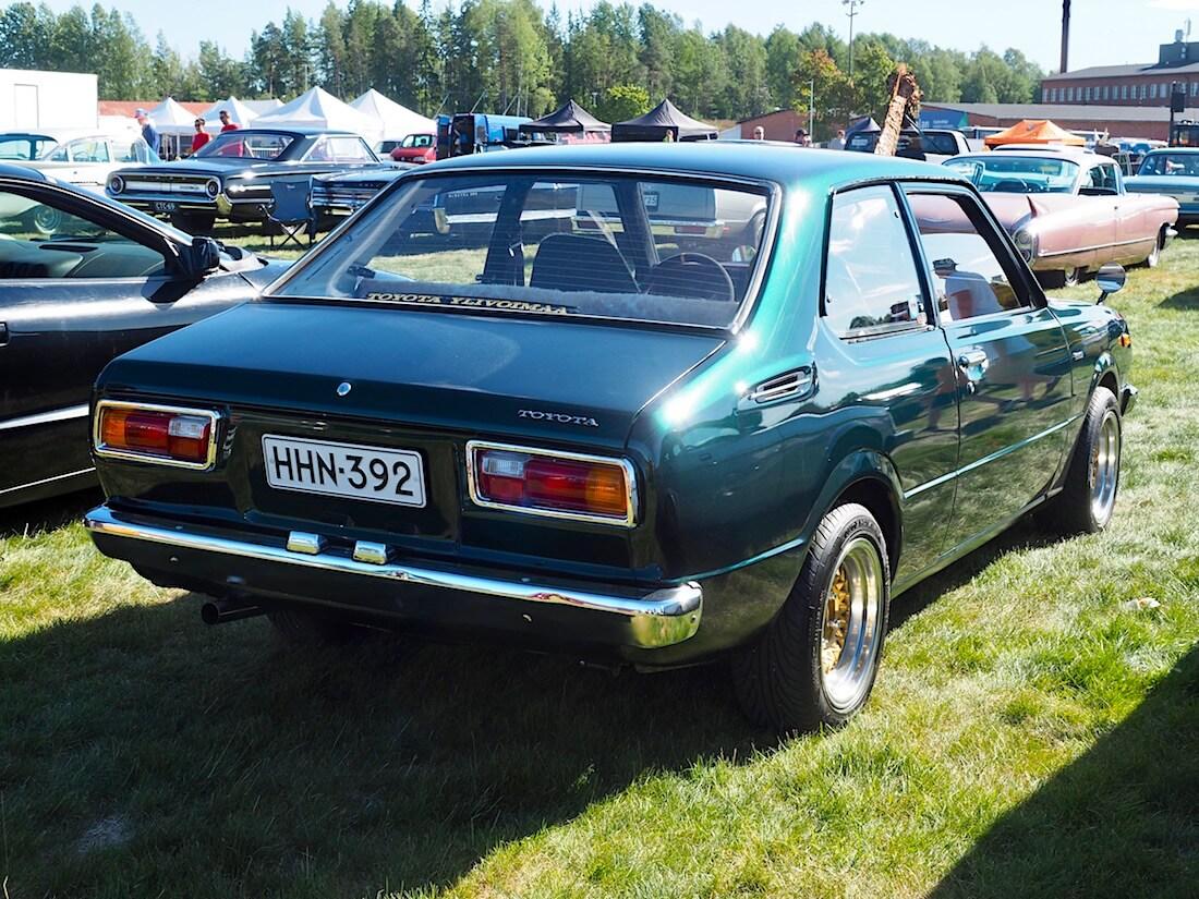 1976 Toyota Corolla KE30 1.2l 3K-moottorilla. Kuvan tekijä: Kai Lappalainen. Lisenssi: CC-BY-40.
