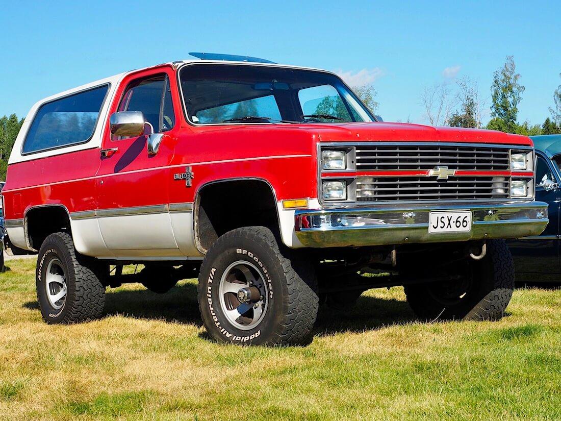 Dieselöity 1978 Chevrolet K5 Blazer 400cid. Kuvan tekijä: Kai Lappalainen. Lisenssi: CC-BY-40.