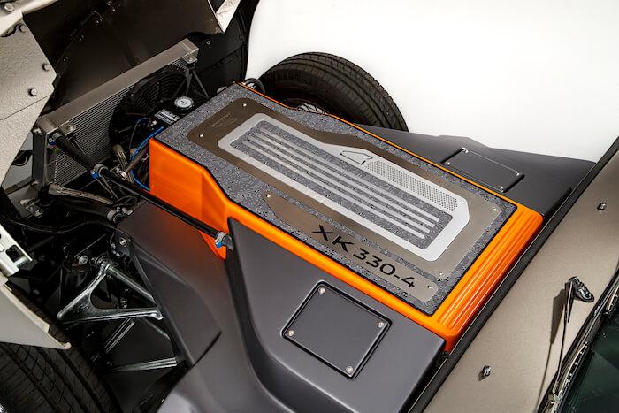 2020 Jaguar E-Type Zero sähköauton akut. Tekijä ja copyright: Jaguar.
