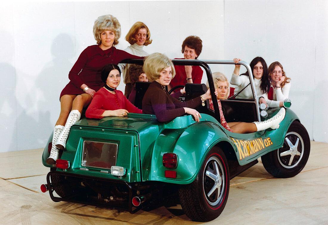 Karmann Beach Buggy rantakirpun mainoskuva vuodelta 1970. Kuva ja copyright: Volkswagen AG.