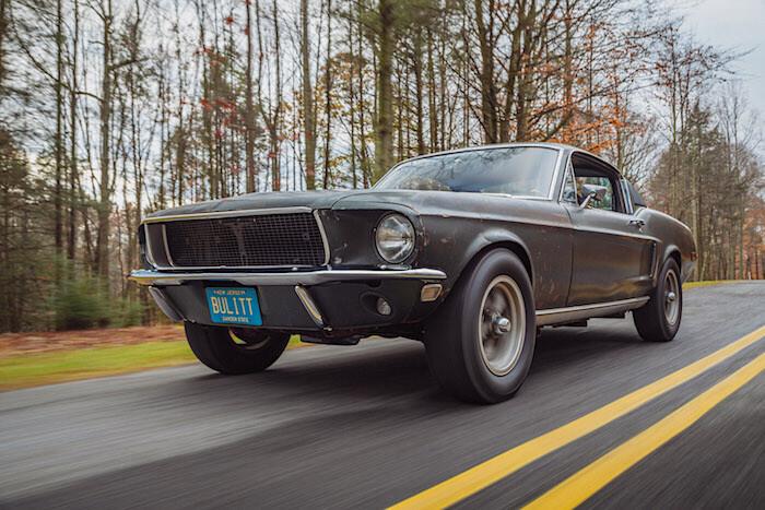 Steve McQueenin 1968 Ford Mustang Bullitt. Kuvan copyright: Ford Motor Company.