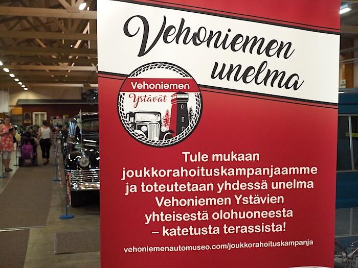 Vehoniemen automuseon joukkorahoituskampanja. Tekijä: Kai Lappalainen. Lisenssi: CC-BY-40.