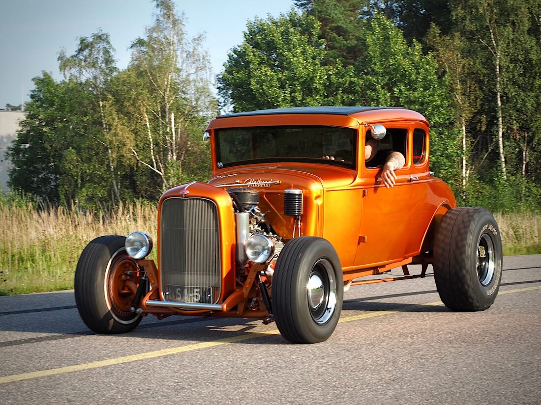 1930 Ford A 5-Window Coupe 221cid V8 Flathead rodi. Tekijä: Kai Lappalainen. Lisenssi: CC-BY-40.