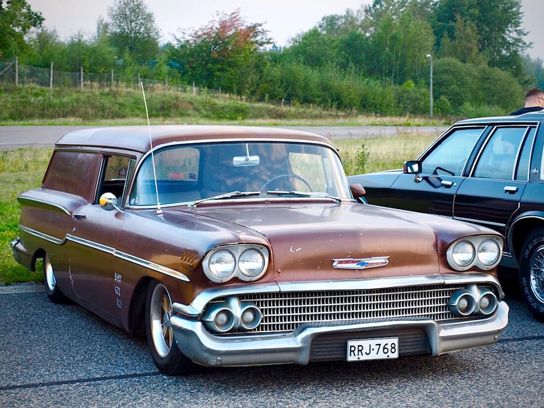 1958 Chevrolet Del Ray Delivery 348cid V8. Tekijä: Kai Lappalainen. Lisenssi: CC-BY-40.