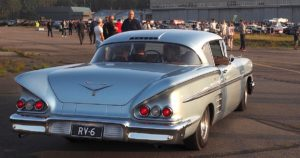 1958 Chevrolet Impala Sport Coupe 283cid V8. Tekijä: Kai Lappalainen. Lisenssi: CC-BY-40.