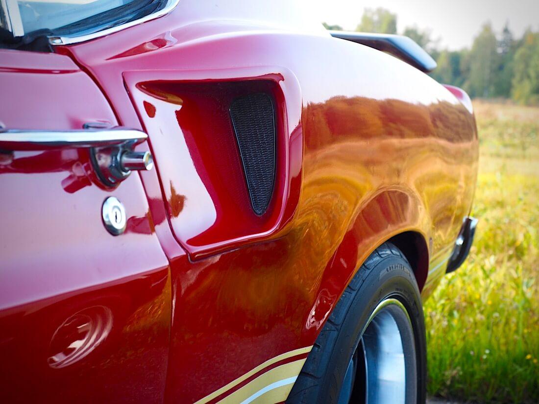 1969 Ford Mustang Mach 1 351cid lokasuojan ilmaskuuppi. Tekijä: Kai Lappalainen. Lisenssi: CC-BY-40.