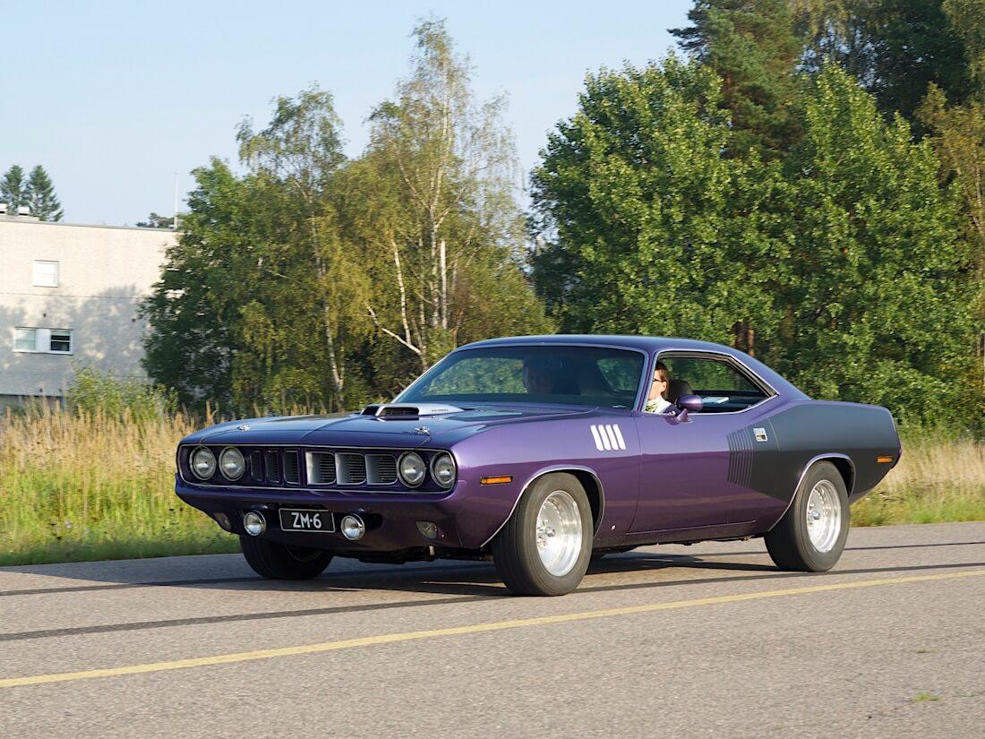 1971 Plymouth 'Cuda HT 426cid Hemi. Tekijä: Kai Lappalainen. Lisenssi: CC-BY-40.
