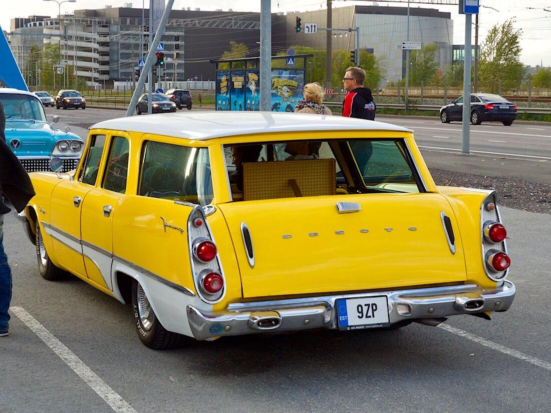 Keltainen 1958 DeSoto Firesweep farmariauto. Tekijä: Kai Lappalainen. Lisenssi: CC-BY-40.