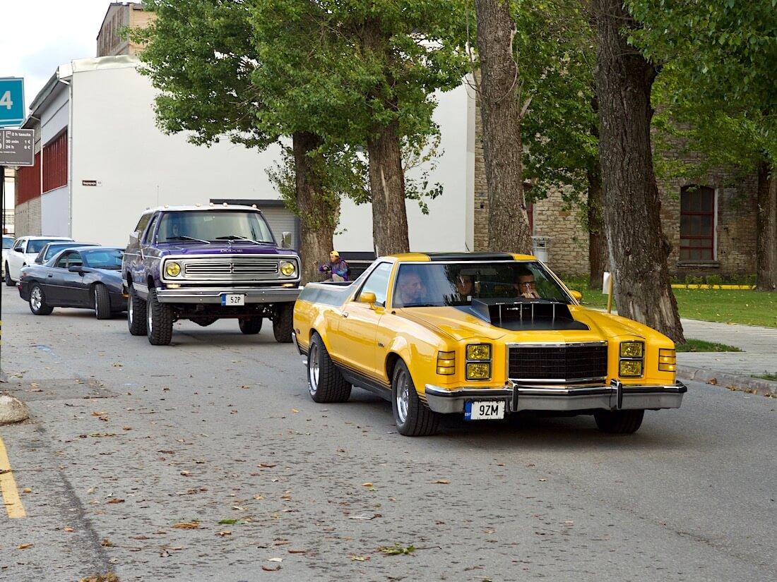 1978 Ford Ranchero 429cid Pickup Tallinnan kadulla. Tekijä: Kai Lappalainen. Lisenssi: CC-BY-40.