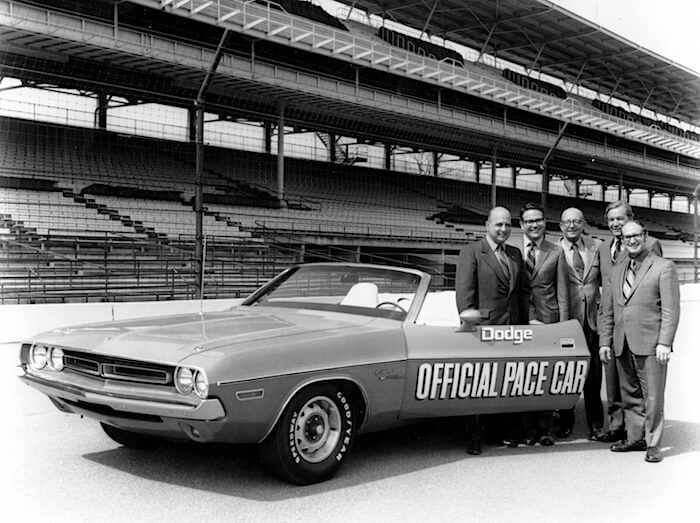 1971 Dodge Challenger Pace Car. Kuva: Fiat Chrysler Automobiles.