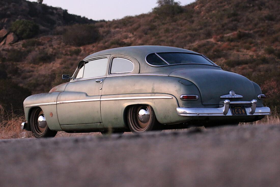 1949 Mercury Coupe Derelict Teslan sähkömoottorilla. Kuva ja copyright: ICON.