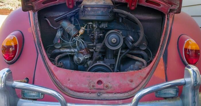 1967 Kuplan patinoitunut moottori. Kuva ja copyright: Volkswagen of America.
