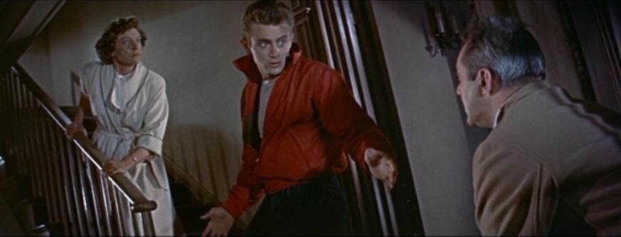 James Dean elokuvassa Nuori kapinallinen. Kuva: Wikimedia Commons, lisenssi: Public domain.